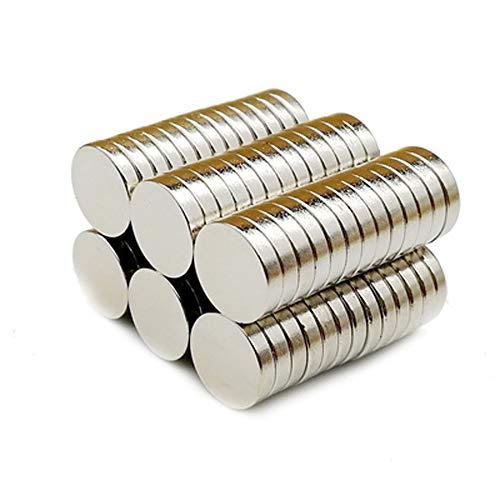 Yizhet 50 Piezas Imanes de Nevera de Cilindro de neodimio Imanes de Disco de Tierra RARA para artesanías, Manualidades, Hobbies y organización de oficinas (10 * 2 mm)