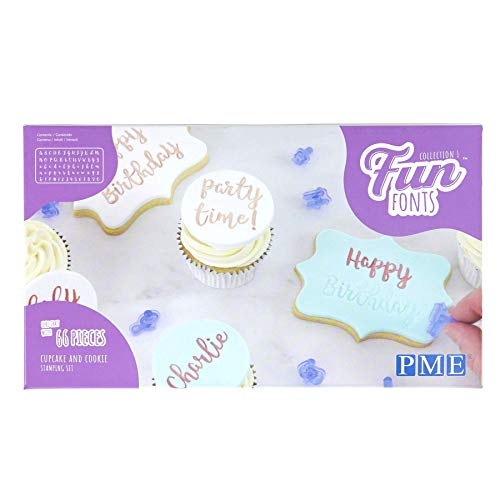PME Fun Fonts Cupcake and Cookie Stamping Set-Collection 1