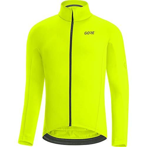 GORE WEAR Maillot térmico de ciclismo para hombre, C3, L, Amarillo neón