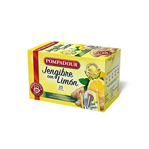 Pompadour Infusion Jengibre con Limón, 20 Bolsitas