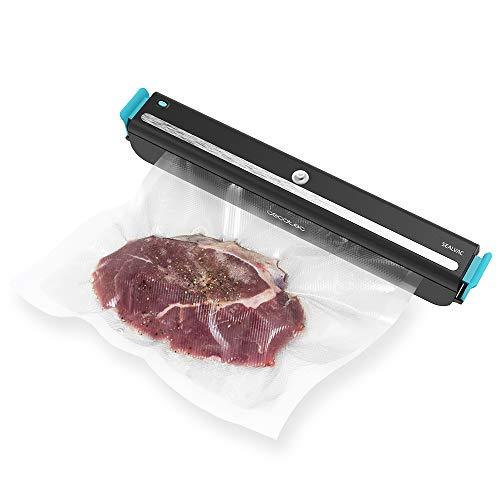 Cecotec Envasadora al vacío FoodCare SealVac 600 Easy. Sistema de envasado rápido en 10 Segundos, presión de vacío de 60 kPa,5 Bolsas de 20 x 30 cm, Apta para Bolsas genéricas (SealVac 600 Easy)