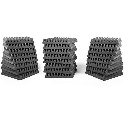 AcousPanel Espuma Acústica Pack 24 Paneles de 30x30x4cm Gris Antracita. Ignifugo