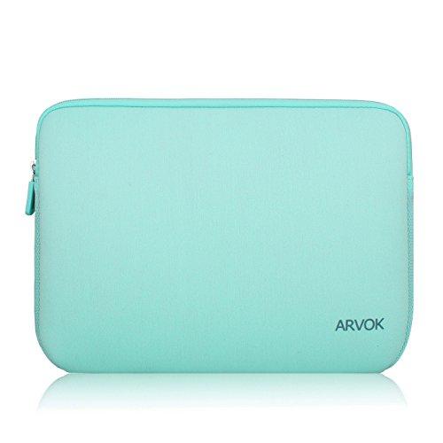 Arvok 15,6 Pulgadas Funda Protectora para Portátiles/Impermeable Ordenador Portátil Caso/Neopreno del Portátil Bolsa para Acer/ASUS/DELL/Fujitsu/Lenovo/HP/Samsung/Sony (Verde Claro)