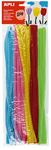 APLI - Bolsa limpiapipas claro colores surtidos, 50 uds
