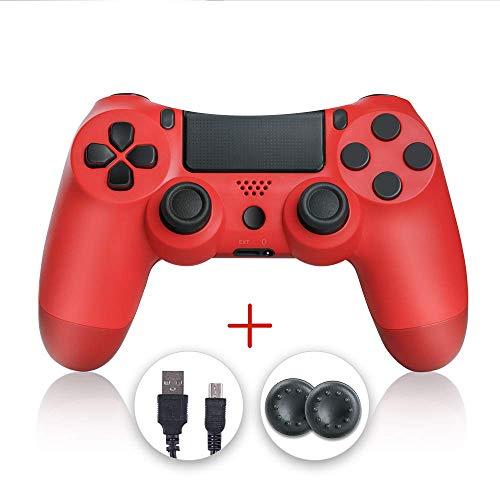 shineled Mando PS4, PS4 Controller, Controlador PS4, Mando Inalámbrico Gamepad Compatible con Playstation 4 (Rojo)