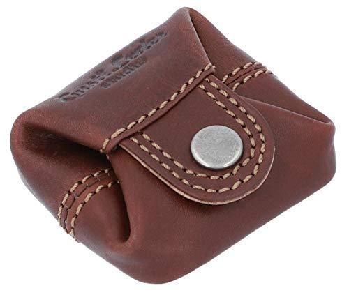 Gusti Monedero Cuero Linus Monedero portamonedas pequeño marrón Oscuro