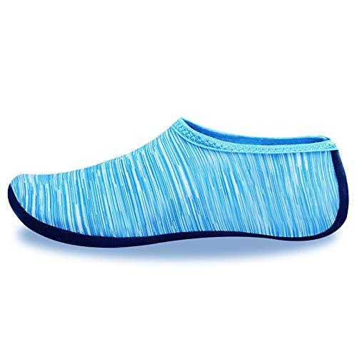 Calcetines de Piscina Adulto (Azul clarito, XXL: 43-45)
