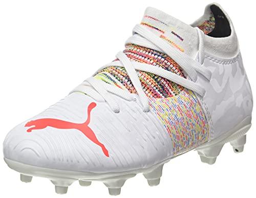 Puma Future Z 3.1 FG/AG Jr, Zapatos de Fútbol Unisex-Niños, Blanco (White/Red Blast), 34 EU