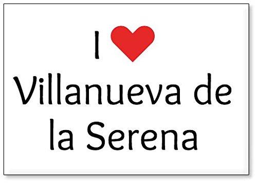 Mundus Souvenirs - Amo Villanueva de la Serena, Imán para Nevera (diseño 3)