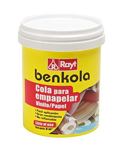 Rayt 1760-09 Benkola Cola para empapelar. Lista al Uso Pintado o Vinilo con Dorso de Papel o Tejido, 1kg