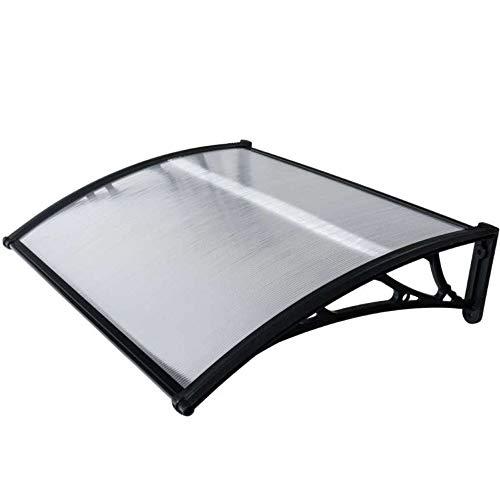WERKA Pro 10845 - Marquesilla de policarbonato (80 x 120 cm), color negro