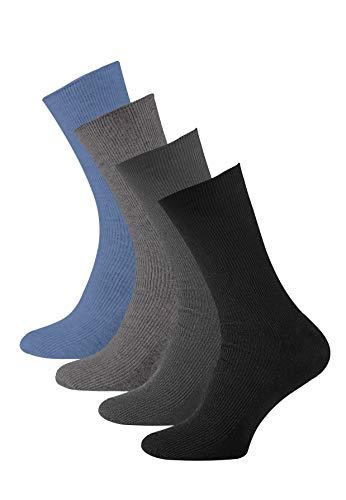 VCA pack de 8 Calcetines lisos sin goma o elástico algodón para hombre, Calcetines diabéticos. 39/42