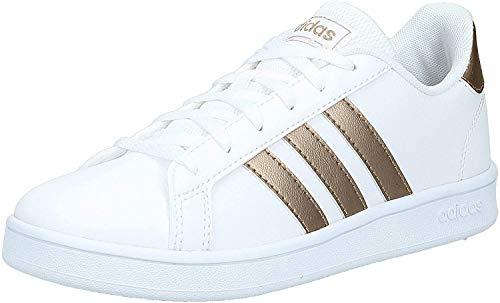 Adidas Grand Court K, Zapatillas, Multicolor Ftwwht Coppmt Glopnk 000, 39 1/3 EU