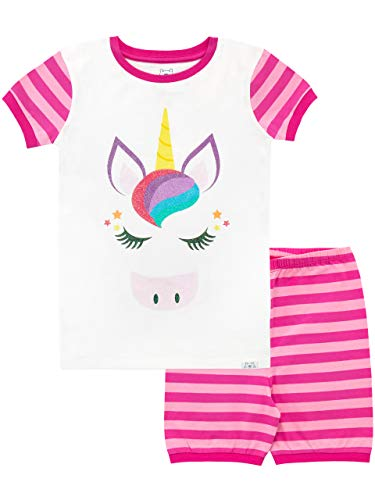 Harry Bear Pijama Corta para niñas Unicornio Rosa 6-7 Años