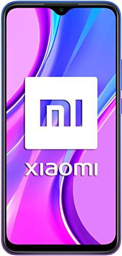 Xiaomi Redmi 9 - Smartphone de 6.53' FHD+, 4 GB y 64 GB, Cámara cuádruple de 13 MP con IA, MediaTek Helio G80, Batería de 5020 mAh, 18 W de Carga rápida, Púrpura [Versión ES/PT]