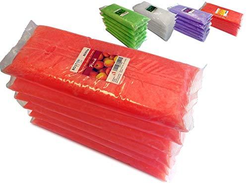 Boston Tech BE106-A Cera de Parafina pura 3 Kg. 6 bloques de 450g C/u. Ideal para cualquier baño de parafina. Uso terapéutico y estético. 5 Diferentes Aromas disponibles. (Melocotón)