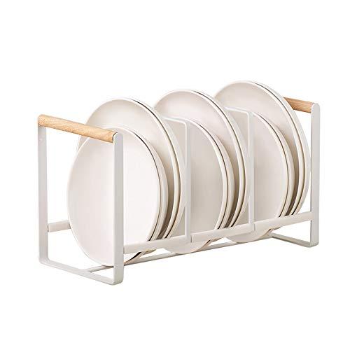 HomeMagic Escurridor para Platos, Estantería de Secado, Compacto Organizador de tapaderas para los armarios, Escurre y Seca vajilla, Cubiertos y Utensilios de Cocina (2)