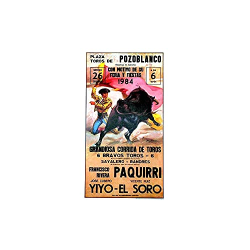 Cartel taurino 'Mitos Pozoblanco' - corrida de la muerte de Paquirri, medidas de 53 cm x 97 cm. y papel de 80 gms.