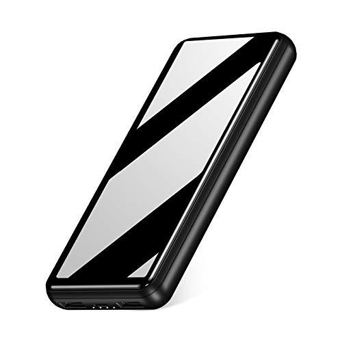 IEsafy Batería Externa 26800mAh con 2 Puertos de Salidas USB 2.4A Carga Rápida Power Bank para Movil Xiaomi Redmi Samsung Huawei y más Smartphone - Negro