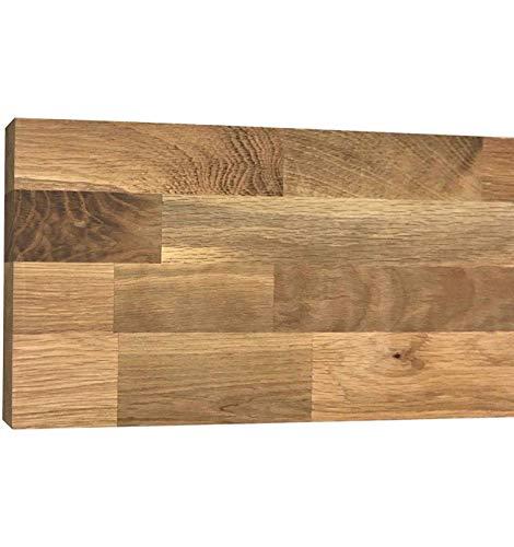 Tablero Roble Macizo Alistonado | Grosores 1,9cm, 3,2cm y 4,2cm disponibles | Corte a medida (1,9cm espesor) (180 x 80cm)
