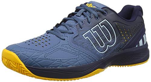Wilson Kaos Comp 2.0 CC, Zapatilla de Tenis para Tierra Batida, tenistas de Cualquier Nivel Hombre, Azul/Azul/Dorado, 44 2/3 EU