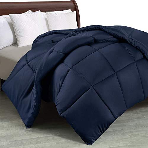 Utopia Bedding Edredón de Fibra 220x240 cm, Fibra Hueca siliconada, 1950 gramo (Azul Marino, Cama 135/150-220 x 240 cm)