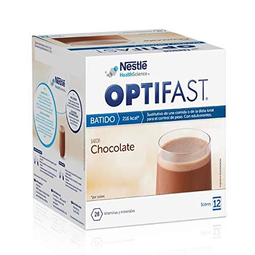 Optifast Batido - Chocolate - 12 sobres de 55 g - Sustitutivos de comida - Ayuda para perder peso o a mantenerlo después de haberlo perdido