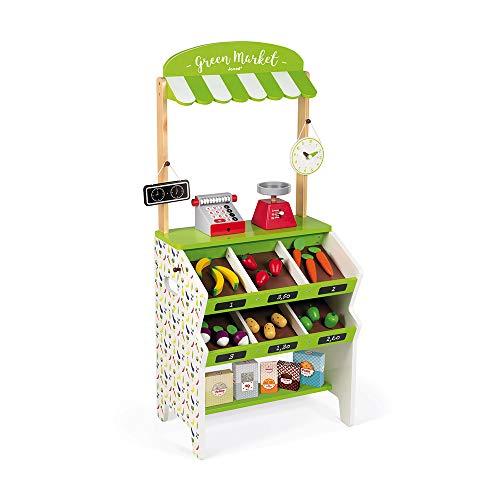 Janod- Tienda de comestibles Green Market (J06574)