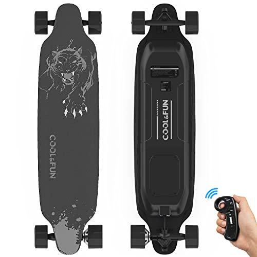 RCB Monopatín Eléctrico Skateboard Eléctrico Longboard de 4 Ruedas con Motor Inteligente Skateboard y Control Remoto, Velocidad 28-32 km/h, para Adulto Adolescente Profesional