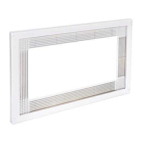 Emuca 8061515 Marco para encastrar microondas en mueble de 60cm en plástico blanco
