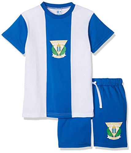 CD Leganés Pijleg Pijama Corta, Infantil, Multicolor (Blanco/Azul), 10