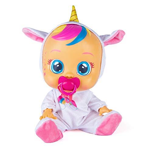 Bebés Llorones Fantasy Dreamy Unicornio - Muñeca interactiva que llora de verdad con chupete y pijama brillante de Unicornio
