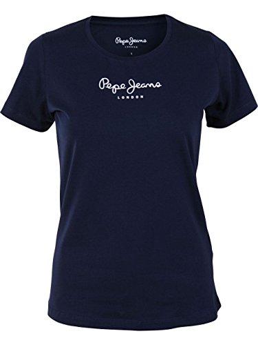 Pepe Jeans New Virginia PL502711 Camiseta, Azul (Navy 595), Small para Mujer