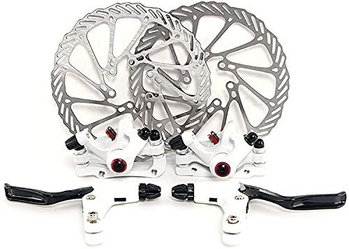 YORBAY Disco de Freno NV5 BD-09 160mm para Bicicleta Blanco con Kit de Tornillos (Blanco) Reutilizable