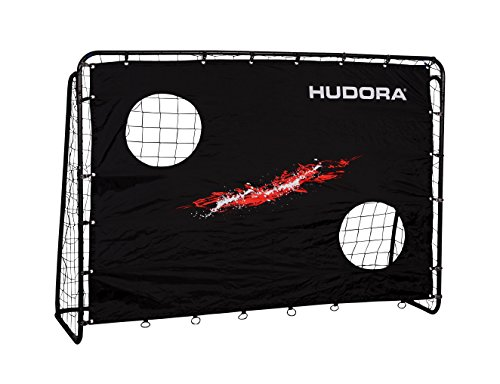 Hudora Trainer mit Torwand-Fußball-Tor Garten-76923 fútbol con Pared de portería, Unisex Adulto, Edición estándar, Talla única