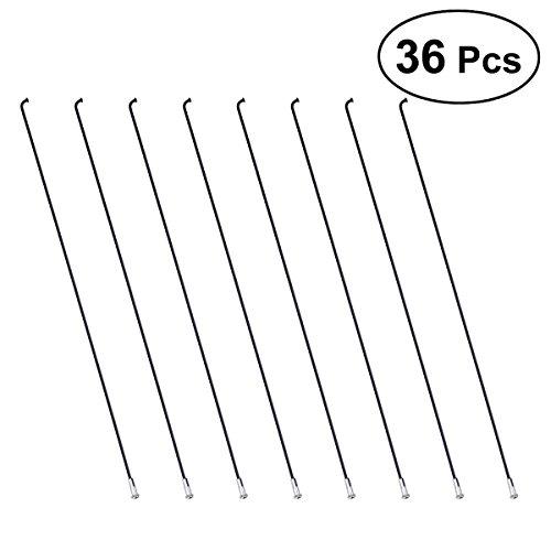 VORCOOL 36pcs Rayons de Roue de VÃlo Jante de VTT en acier avec 36pcs mamelons-26cm