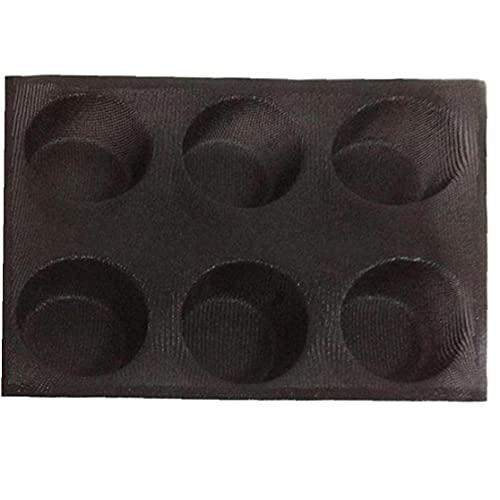 TOSSPER Molde De Silicona para Hornear Pan, Bollo Lámina Flexible Perforada Hornear Liner 6- Taza De Bicarbonato De Mollete