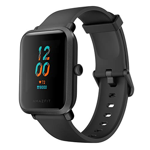 Amazfit Bip S Smartwatch 5ATM GPS GLONASS -Reloj inteligente con bluetooth y conectividad con Android e iOS - Version Global (Negro)
