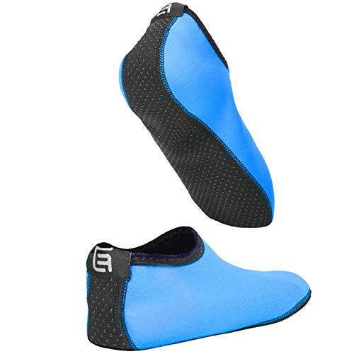 Calcetines de Agua para Mujeres – Extra Cómodos – Protege contra la Arena, Agua fría/Caliente, UV, Rocas/guijarros – Calzado fácil para Nadar, Voleibol de Playa, Snorkel, Vela, Surf, Yoga, Caminar