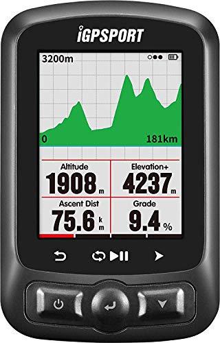 iGS618 (versión española) - Ciclo computador grabador datos y rutas GPS GLONASS Beidou. Navegación y seguimiento. Pantalla 2.2' color. ANT Detección de movimiento Alarmas Compatible Strava