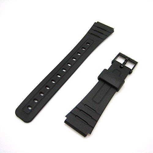 Genuine Casio Replacement Watch Strap 71604002 for Casio Watch F-105W-1ASV, F-91W-3W, F-105W-1AV + Other models