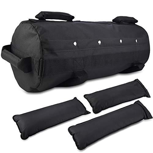 Jecxep Bolsa de arena para entrenamientos de entrenamiento, bolsas de arena ajustables para entrenamiento pesado, con 3 bolsas interiores para ejercicios de entrenamiento de intensidad funcional