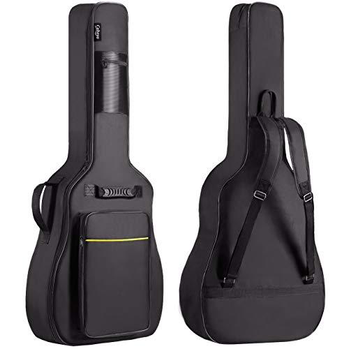CAHAYA Funda de Guitarra Universal Acolchada Suave Versión Actualizada de 8mm con 2 Bolsillos para Guitarra Acústica y Clásica con Tamaño Más Grandes para Guitarra de 39/40/41 Pulgadas