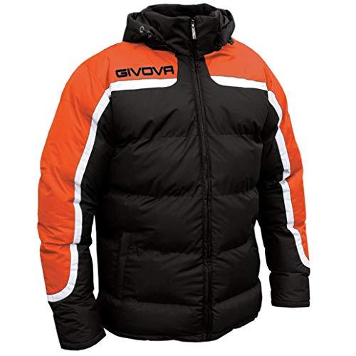 Givova, chaqueta antartide, negro/noranja fluo, L