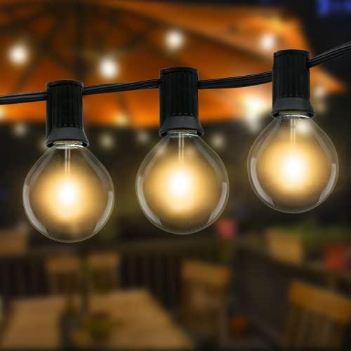 Guirnaldas Luces Exterior, Litogo 10.5m G40 Luces Exterior Jardin 25+2 LED Guirnaldas Bombillas Exterior Impermeable Guirnaldas Luminosas de Exterior Cadena Bombillas para Terraza,Boda,Fiesta,Navidad