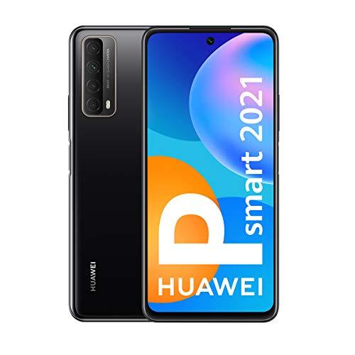 HUAWEI P Smart 2021 - Smartphone de 6,67 Pulgadas Full HD, 4GB de RAM y 128 GB de ROM, 22.5W HUAWEI Supercharge, 5000 mAh de batería, Cuádruple cámara 48 MP, Negro [Versión ES/PT]