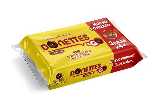 Donettes & GO 3 packs con 4 uds. 228 g (19gr por mini rosquilla)