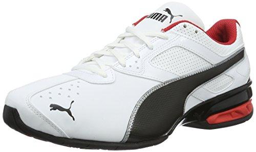 PUMA Tazon 6 FM, Zapatillas, para Hombre, Blanco (Puma White-Puma Black-Puma Silver), 44 EU