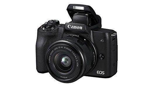 Canon EOS M50 - Kit de cámara EVIL de 24.1 MP y vídeo 4K con objetivo EF-M 15-45mm IS MM (pantalla táctil de 3', estabilizador óptico, Wifi), color negro