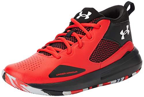 Under Armour Grade School Lockdown 5, Zapatillas de Baloncesto Unisex Adulto, Versa Rojo Negro Blanco 601, 38 EU